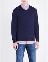 Brunello Cucinelli V-neck Wool And Cashmere Jumper