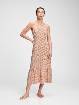 Gap Squareneck Fit & Flare Midi Dress