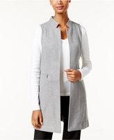 Calvin Klein Long Open-Front Vest