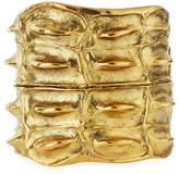 Saint Laurent Opyum Croco Cuff Bracelet