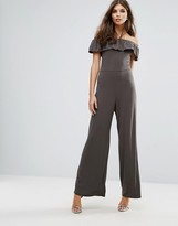Love Off Shoulder Frill Jumpsuit