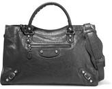 Balenciaga Giant 12 City Textured-leather Tote - Gray