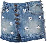 Rampage Juniors' Wes 5-Button Denim Shortie Shorts