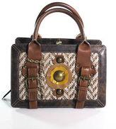 Hayden Harnett MultiColor Brown Woven TriPouch Small Handbag