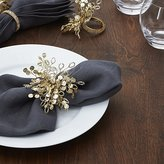 Crate & Barrel Flurry Beaded Napkin Ring