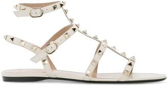 Valentino Rockstud ankle strap ballerinas