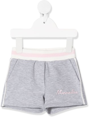 MonnaLisa Logo Embroidered Track Shorts