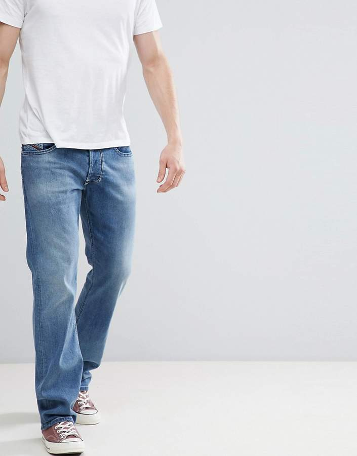 Diesel Larkee Jeans in Light Sand Washed