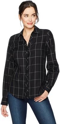 Foxcroft Women's Long Sleeve Nicole Window Pane Shirt