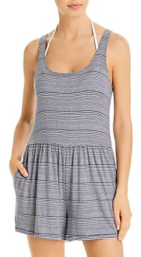 Splendid Striped Romper Swim Cover-Up