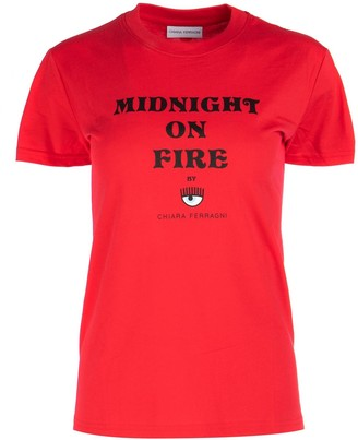 Chiara Ferragni Midnight On Fire Print T-Shirt