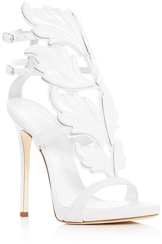 Giuseppe Zanotti Women's Cruel Coline Leather Wing Embellished High-Heel Sandals