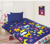 Animal Silhouette Glow in the Dark Quilt Cover Set