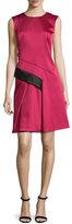 J. Mendel Sleeveless Two-Tone Dress, Fuchsia