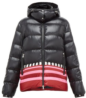 1 Moncler Pierpaolo Piccioli - Gabrielle Striped-hem Padded Hooded Jacket - Black Pink