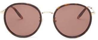 Gucci Round Tortoiseshell-effect Metal Sunglasses - Womens - Brown Multi