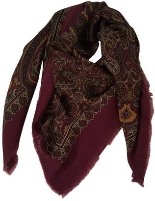 Christian Dior Burgundy Wool Scarves