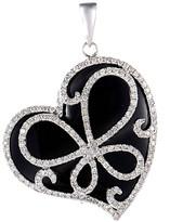 Generic Gemstones 18K 11.07 Ct. Tw. Diamond & Onyx Pendant