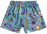 Moschino Printed Crepe Shorts