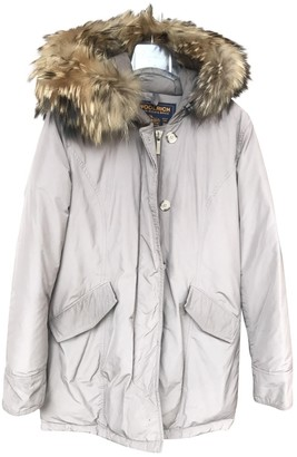 Woolrich Beige Fur Coat for Women