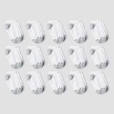 Hanes Red Label Boys' Athletic Socks - White L