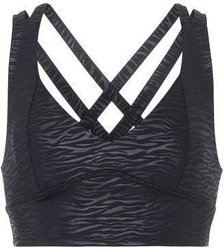 Lanston Max animal-print sports bra