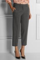 Miu Miu Cropped stretch-wool felt straight-leg pants