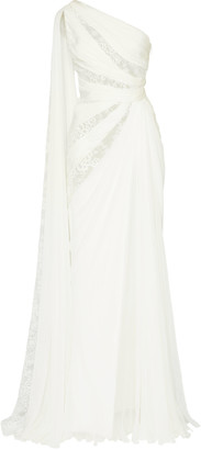 ZUHAIR MURAD One-Shoulder Silk Maxi Dress