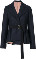 Jil Sander Navy belted fitted jacket