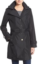 Calvin Klein Women's Single Breasted Belted Trench Coat