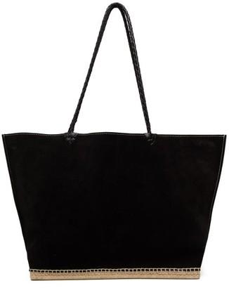 Altuzarra Espadrille Suede Tote Bag - Womens - Black