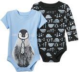 Baby Starters Baby Boy 2-pk. Penguin Bodysuits