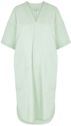 Lee Mathews Kei Mint Cotton-poplin Midi Dress