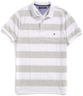 Tommy Hilfiger Final Sale- Slim Fit Rugby Stripe Polo