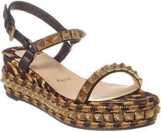 Christian Louboutin Pira Ryad 60 Leather Wedge Sandal