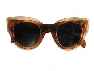 Celine Orange Plastic Sunglasses