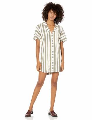 RVCA Junior's Storm Oversized Shirt Dress