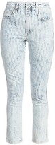Joe's Jeans Luna High-Rise Stripe Skinny Ankle Jeans