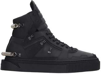 Gienchi Hypnos 3.0 Sneakers In Black Suede And Leather