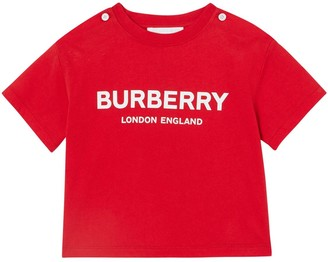 Burberry Logo Printed Cotton Jersey T-shirt