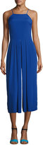 1 STATE 1.STATE Pleated-Leg Sleeveless Cropped Jumpsuit, Blue