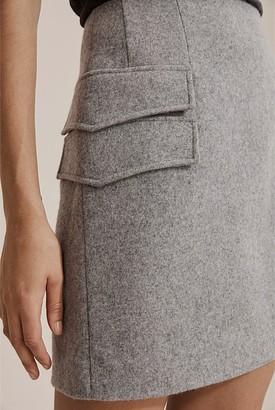 Country Road Wool Felt Mini Skirt