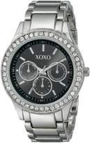 XOXO Women's Tone Bracelet With Rhinestones Accent Watch XO5330