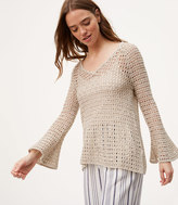 LOFT Open Stitch Bell Sleeve Sweater