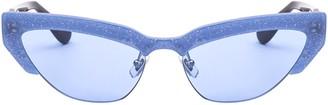 Miu Miu Glittered Cat Eye Sunglasses