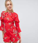 Influence Tall Frill Detail Floral Romper