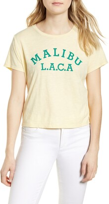 Lucky Brand Malibu L.A.C.A. Crop Graphic Tee