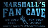 AdvPro Name tg285-b Marshall's Hockey Fan Cave Man Room Bar Beer Neon Light Sign