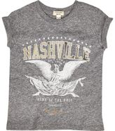 River Island Mini girls grey Nashville print T-shirt