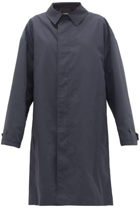 Raf Simons Single-breasted Gabardine Car Coat - Womens - Blue
